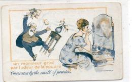 HUMOUR 255 : édit. Sid : Un Monsieur Grise Par L Odeur De La Poudre , Illustrateur Leven & Lemonier - Humor