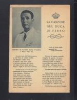 Italia Cartolina La Canzone Del Duca Di Ferro 1943 - Postwaardestukken