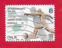 ITALIA REPUBBLICA USATO - 2018 - 60º Anniversario Del Centro Federale Di Coverciano - € B - S. 3856 - 6. 1946-.. Republic