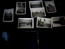 Lot De 8 Photos Le Havre Bombardé (ruines) Année 1944 CF Photos ** - Persone Anonimi