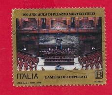 ITALIA REPUBBLICA USATO - 2018 - 100º Anniversario Dell'aula Di Palazzo Montecitorio - € B - S. 3859 - 6. 1946-.. Repubblica