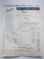 Lingelon) Manufacture De Broderie Et Lingerie - Gilbert Heymann à NANCY (75) 4/08/1933 Facture à Entête - Textile & Clothing