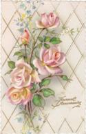 Heureux Anniversaire : Roses : Edit. PHOTOCHROM N° 1812 - Glaçée - Traits En Relief Doré  ( Voir RECTO - VERSO ) - Cumpleaños