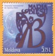 2019 Moldova Moldavie  International Festival. Maria Biesu. Opera. Ballet. Singer. Artist. Art. Mint - Théâtre