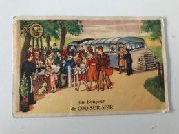 Carte Postale Ancienne  Un Bonjour De COQ-SUR-MER - De Haan