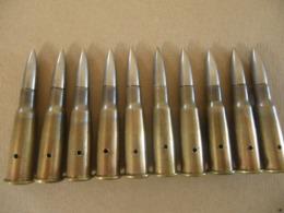 10 Cartouches 8 Mm Lebel Datées 1940 (neutralisées) - Equipement