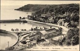Cp Saint Aubin Jersey Kanalinseln, Vue Générale, Totalansicht Der Ortschaft, Hafenbecken - Illustratori & Fotografie