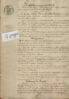 VP15.919 - Acte De 1843 - Mr  DROZ - FOUILLETTE DESVOYES à JOUY LE  MOUTIER Vente D'une Maison Sise à PARIS - Manoscritti
