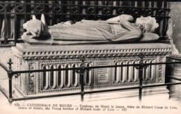 CPA - CATHEDRALE De ROUEN - Tombeau HENRI LE JEUNE - Edition ND.Photo / N°624 - Sculptures