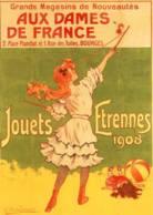 CPM - AFFICHE PUB - AUX DAMES DE FRANCE - BOURGES - E.VAVASSEUR - Edition CLOUET - Bourges