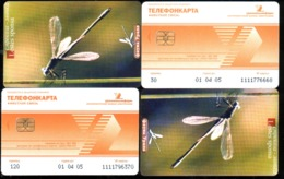 Russia 2004 Dragonfly (Lestes Sponsa), 30+120 Units, 2 Used - Coccinelle