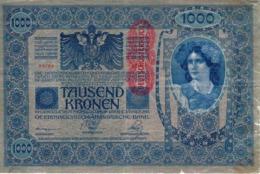 GERMAN-AUSTRIA 1000 KRONEN 1902 (1920) P-59a F/VF DEUTSCHÖSTERREICH [DAT110a] - Austria