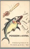 CPSM Poisson D'Avril - Prétentiard Qui Hausse Le Ton - 1° Aprile (pesce Di Aprile)