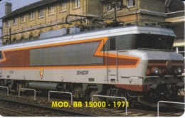TARJETA DE LIBERIA DE UN TREN BB 15000-1971 DE 200 UNITS  (TRAIN-ZUG) - Trenes