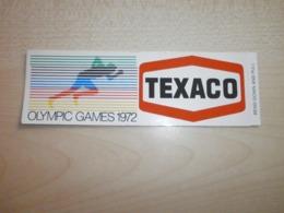 Autocollant Ancien TEXACO OLYMPIC GAMES 1972 - Sammelbilder, Sticker