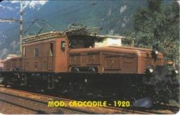 TARJETA DE LIBERIA DE UN TREN CROCODILE - 1920 DE 10 UNITS  (TRAIN-ZUG) - Eisenbahnen