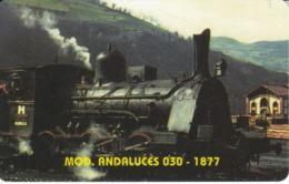 TARJETA DE LIBERIA DE UN TREN ANDALUCES - 1877 DE 25 UNITS  (TRAIN-ZUG) - Trenes