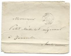 MARQUE POSTALE PARIS POUR JOINVILLE / 1862 - Poststempel (Briefe)