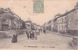 23-BOURGANEUF (Creuse)-Route De Limoges-Animation- Commerces-Pub-Aux Armes D'Aubusson - Bourganeuf