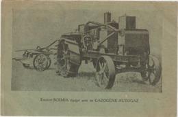 CPA   TRACTEUR SCEMIA EQUIPE AVEC UN GAZOGENE AUTOGAZ  CATE PUBLICITAIRE TRES RARE - Tracteurs