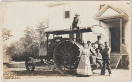 CPA   TRACTEUR  CIMA  POST CARD  CARTE PHOTO - Tracteurs