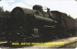 TARJETA DE LIBERIA DE UN TREN GR743 FRANCO-CROSH - 1937 DE 50 UNITS  (TRAIN-ZUG) - Treni