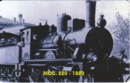 TARJETA DE LIBERIA DE UN TREN MOD. 220 - 1880 DE 10 UNITS  (TRAIN-ZUG) - Liberia