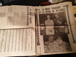 LA MORT TRAGIQUE DE LA REINE DE BELGIQUE AIR UNE CHANSON DANS LA NUIT - Partitions Musicales Anciennes