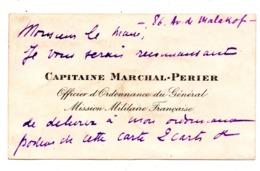 Mission Militaire Française Capitaine Marchal Perier - Cartes De Visite