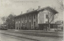 D  31  VILLEFRANCHE De LAURAGAIS  La Gare  (Train) - Andere Gemeenten