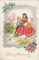 Heureux Anniversaire : Enfants Et Oies : Edit. PHOTOCHROM N° 390 - ( Voir RECTO - VERSO ) - Cumpleaños