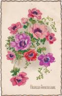 Heureux Anniversaire : Fleurs : Edit. PHOTOCHROM N° Fleurs GIL - ( Voir RECTO - VERSO ) - Cumpleaños