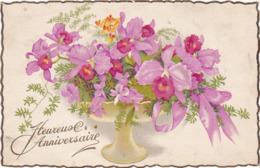 Heureux Anniversaire : Coupe De Fleurs : Edit. PHOTOCHROM N° Fleurs GIL - ( Voir RECTO - VERSO ) - Anniversaire