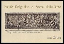 Ltalia Repubblica - 1984 - Istituto Poligrafico E Zecca Dello Stato - Allegoria Del Lavoro Nell'Officina Monetaria - Sez - Erinnofilia