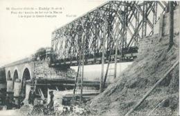 77 CPA ESBLY Pont Chemin De Fer Lancé Par Le Génie Français - Esbly