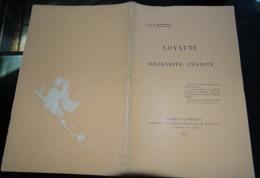 Loyauté Solidarité Charité 1903  Jules Maistre Clermont L'hérault - Documentos Antiguos