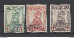 Nr 126-28 Gestempeld - 1914-1915 Croix-Rouge