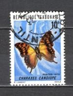 GABON  N° 304   OBLITERE  COTE 0.20€    PAPILLON ANIMAUX - Gabun (1960-...)