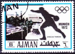 Ajman - Olympiade München (Deutsches Museum; Diskuswerfen) (MiNr. 731) 1971 - Gest Used Obl - Ajman
