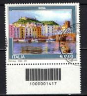 ITALIA - 2011 - IL TURISMO IN ITALIA: BOSA - CON CODICE A BARRE - USATO - 6. 1946-.. Repubblica