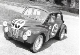 TRANSPORT AUTO AUTOMOBILE COMPÉTITION SPORTIVE 4 CV 24 HEURES DU MANS JUIN 1951   EDIT. RENAULT - Postales