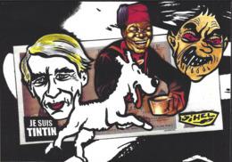 CPM Banania Par Jihel Tirage Limité En 30 Ex Numérotés Signés Hergé Tintin Colonialisme Négritude - Monnaies (représentations)