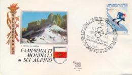 Italia 1970 Busta Con Annullo Speciale Campionati Mondiali Di Sci Alpino S. Cristina Val Gardena 7 Febbraio - Sci
