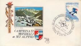 Italia 1970 Busta Con Annullo Speciale Campionati Mondiali Di Sci Alpino Selva Di Val Gardena 7 Febbraio - Sci