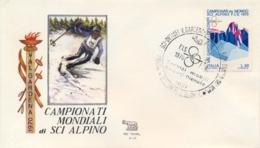Italia 1970 Busta Con Annullo Speciale Campionati Mondiali Di Sci Alpino Ortisei 8 Febbraio Slalom Maschile - Sci