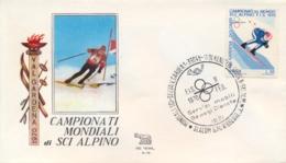 Italia 1970 Busta Con Annullo Speciale Campionati Mondiali Di Sci Alpino Selva 9 Febbraio Slalom Gigante Maschile - Sci