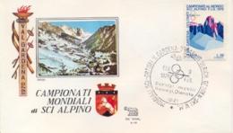 Italia 1970 Busta Con Annullo Speciale Campionati Mondiali Di Sci Alpino Ortisei 9 Febbraio - Sci