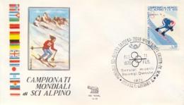 Italia 1970 Busta Con Annullo Speciale Campionati Mondiali Di Sci Alpino Selva 11 Febbraio Discesa Libera Femminile - Sci