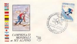 Italia 1970 Busta Con Annullo Speciale Campionati Mondiali Di Sci Alpino Ortisei 13 Febbraio Slalom Speciale Femminile - Sci