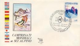Italia 1970 Busta Con Annullo Speciale Campionati Mondiali Di Sci Alpino Selva 14 Febbraio Slalom Gigante Femminile - Sci